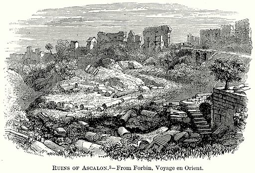 Ruins of Ascalon. Illustration from The Comprehensive History of England (Gresham Publishing, 1902).