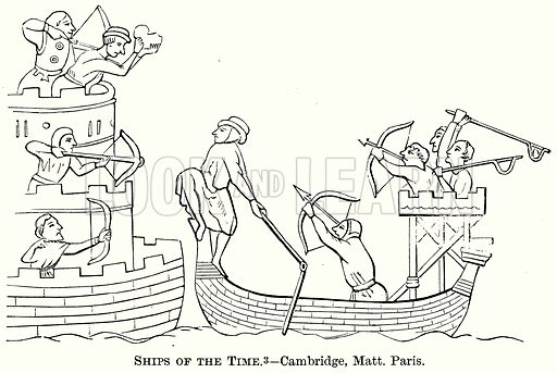 Ships of the Time. Illustration from The Comprehensive History of England (Gresham Publishing, 1902).