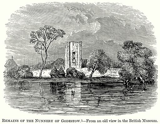 Remains of the Nunnery of Godestow. Illustration from The Comprehensive History of England (Gresham Publishing, 1902).