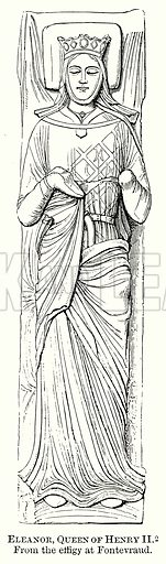 Eleanor, Queen of Henry II. Illustration from The Comprehensive History of England (Gresham Publishing, 1902).