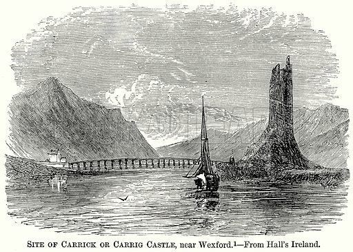 Site of Carrick or Carrig Castle, near Wexford. Illustration from The Comprehensive History of England (Gresham Publishing, 1902).