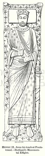 Henry II, from his Tomb at Fontevraud. – Stothard's Monumental Effigies. Illustration from The Comprehensive History of England (Gresham Publishing, 1902).