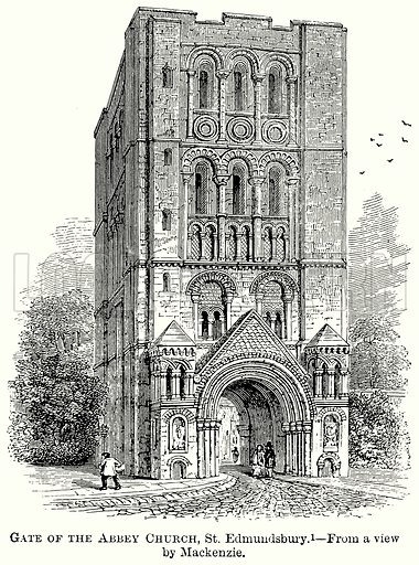 Gate of the Abbey Church, St Edmundsbury. Illustration from The Comprehensive History of England (Gresham Publishing, 1902).