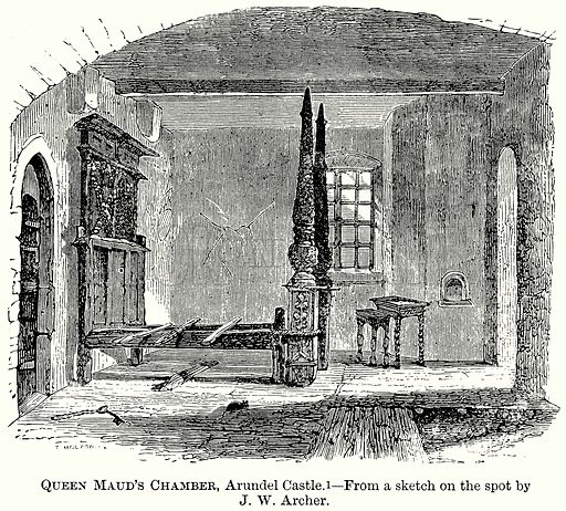 Queen Maud's Chamber, Arundel Castle. Illustration from The Comprehensive History of England (Gresham Publishing, 1902).