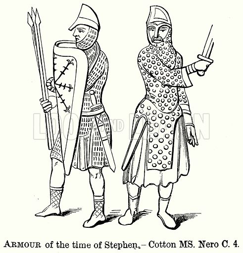 Armour of the Time of Stephen. Illustration from The Comprehensive History of England (Gresham Publishing, 1902).
