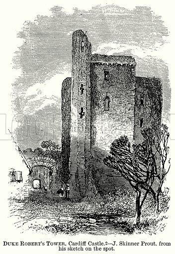 Duke Robert's Tower, Cardiff Castle. Illustration from The Comprehensive History of England (Gresham Publishing, 1902).