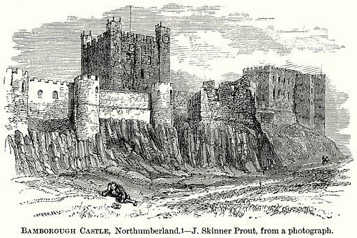 Bamborough Castle, Northumberland. Illustration from The Comprehensive History of England (Gresham Publishing, 1902).