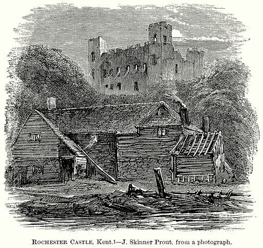Rochester Castle, Kent. Illustration from The Comprehensive History of England (Gresham Publishing, 1902).