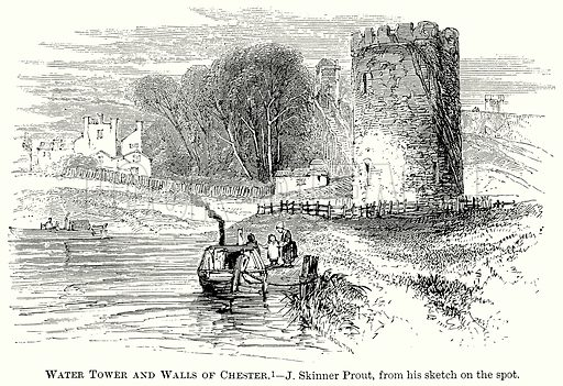 Water Tower and Walls of Chester. Illustration from The Comprehensive History of England (Gresham Publishing, 1902).