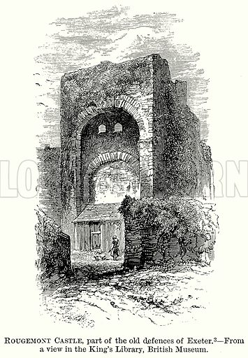Rougemont Castle, Part of the Old Defences of Exeter. Illustration from The Comprehensive History of England (Gresham Publishing, 1902).
