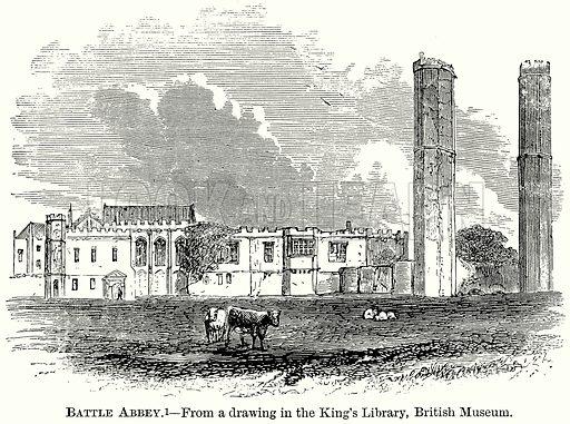 Battle Abbey. Illustration from The Comprehensive History of England (Gresham Publishing, 1902).