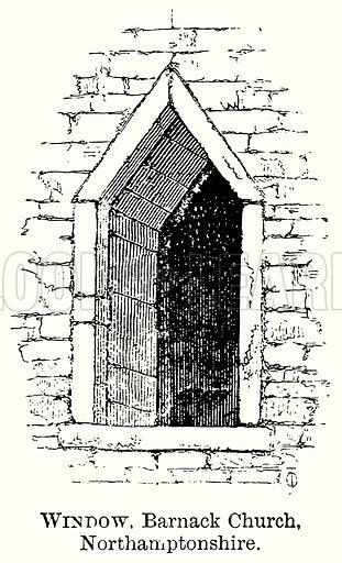 Window, Barnack Church, Northamptonshire. Illustration from The Comprehensive History of England (Gresham Publishing, 1902).