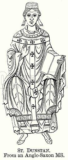St Dunstan. Illustration from The Comprehensive History of England (Gresham Publishing, 1902).