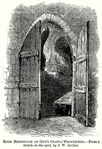 Rock Hermitage at Guy's Cliff, Warwickshire. Illustration from The Comprehensive History of England (Gresham Publishing, 1902).