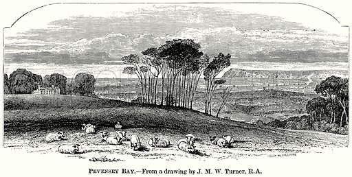 Pevensey Bay. Illustration from The Comprehensive History of England (Gresham Publishing, 1902).