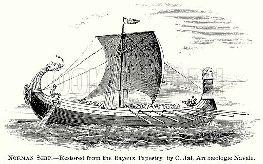 Norman Ship. Illustration from The Comprehensive History of England (Gresham Publishing, 1902).