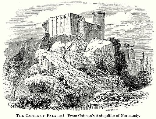 The Castle of Falaise. Illustration from The Comprehensive History of England (Gresham Publishing, 1902).