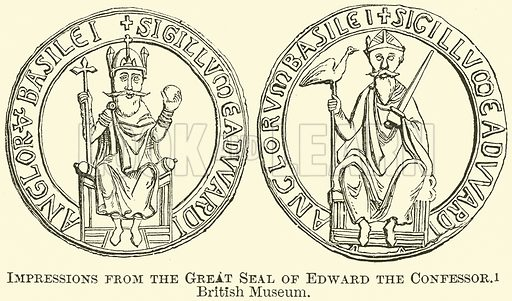 Impressions from the Great Seal of Edward the Confessor. British Museum. Illustration from The Comprehensive History of England (Gresham Publishing, 1902).