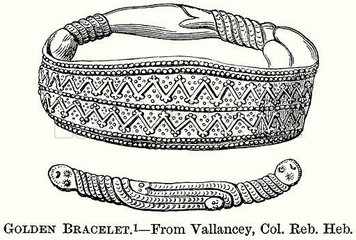Golden Bracelet. Illustration from The Comprehensive History of England (Gresham Publishing, 1902).