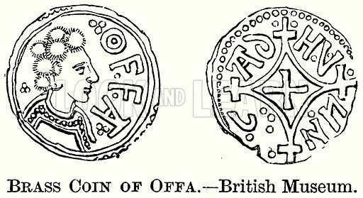 Brass Coin of Offa. – British Museum. Illustration from The Comprehensive History of England (Gresham Publishing, 1902).