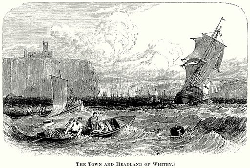 The Town and Headland of Whitby. Illustration from The Comprehensive History of England (Gresham Publishing, 1902).