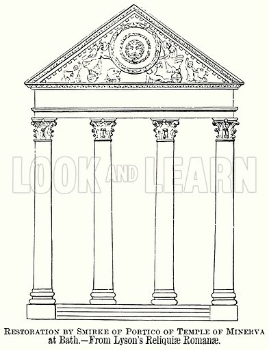 Restoration by Smirke of Portico of Temple of Minerva at Bath. Illustration from The Comprehensive History of England (Gresham Publishing, 1902).