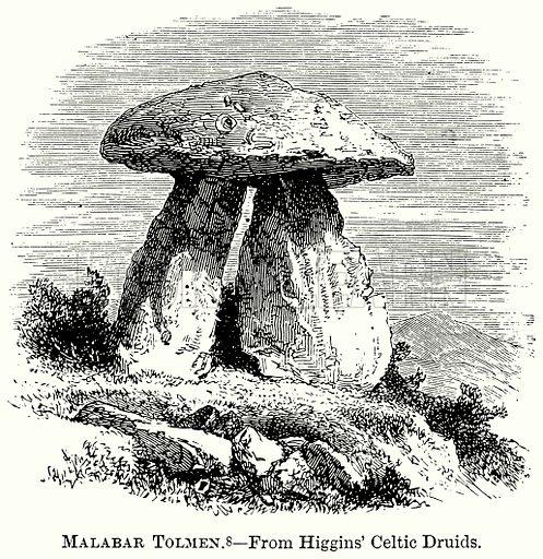 Malabar Tolmen. Illustration from The Comprehensive History of England (Gresham Publishing, 1902).