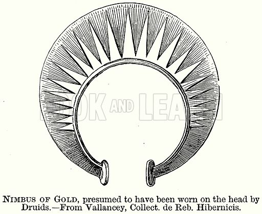 Nimbus of Gold, Presumed to have been Worn on the Head by Druids. Illustration from The Comprehensive History of England (Gresham Publishing, 1902).