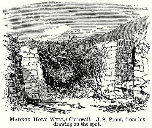 Madron Holy Well, Cornwall. Illustration from The Comprehensive History of England (Gresham Publishing, 1902).