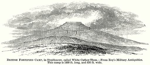 British Fortified Camp, in Strathmore, called White Cather-Thun. Illustration from The Comprehensive History of England (Gresham Publishing, 1902).