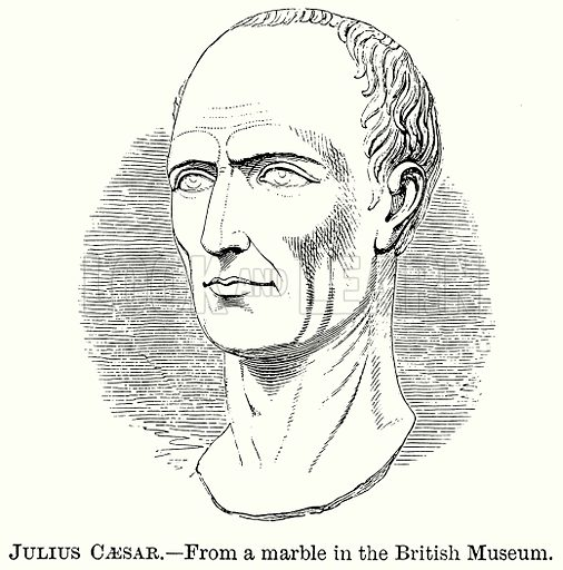 Julius Caesar. Illustration from The Comprehensive History of England (Gresham Publishing, 1902).