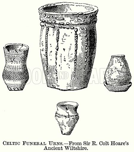 Celtic Funeral Urns. Illustration from The Comprehensive History of England (Gresham Publishing, 1902).