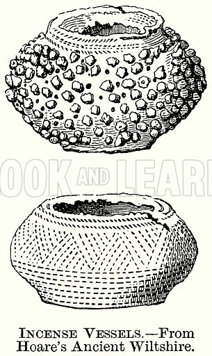 Incense Vessels. Illustration from The Comprehensive History of England (Gresham Publishing, 1902).