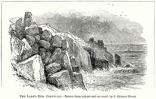 The Land's End, Cornwall. Illustration from The Comprehensive History of England (Gresham Publishing, 1902).