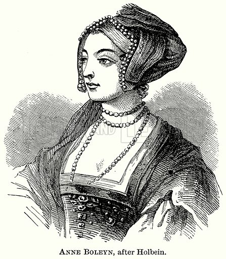 Anne Boleyn, after Holbein. Illustration from The Comprehensive History of England (Gresham Publishing, 1902).