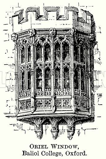 Oriel Window, Baliol College, Oxford. Illustration from The Comprehensive History of England (Gresham Publishing, 1902).