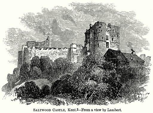 Saltwood Castle, Kent. Illustration from The Comprehensive History of England (Gresham Publishing, 1902).