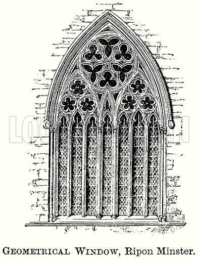 Geometrical Window, Ripon Minster. Illustration from The Comprehensive History of England (Gresham Publishing, 1902).