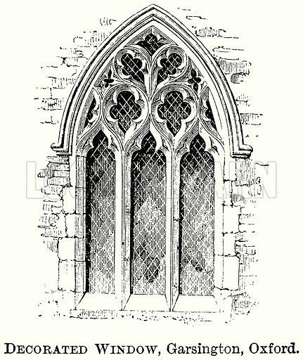 Decorated Window, Garsington, Oxford. Illustration from The Comprehensive History of England (Gresham Publishing, 1902).