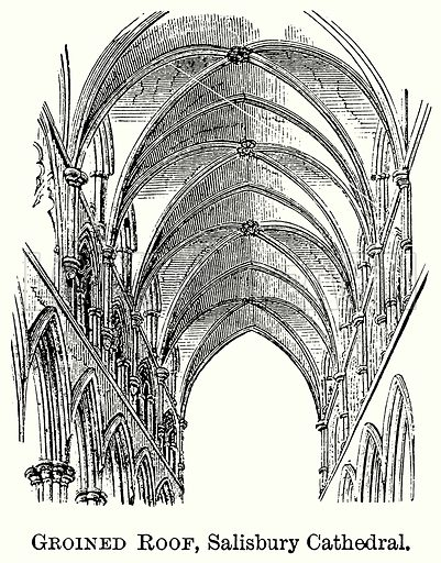 Groined Roof, Salisbury Cathedral. Illustration from The Comprehensive History of England (Gresham Publishing, 1902).