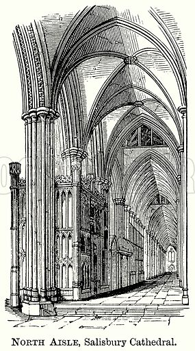North Aisle, Salisbury Cathedral. Illustration from The Comprehensive History of England (Gresham Publishing, 1902).