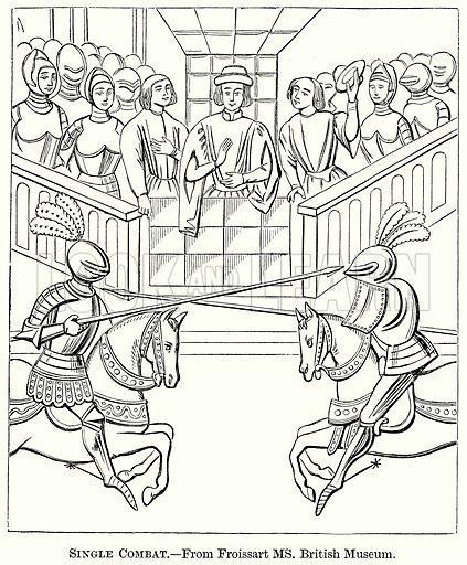 Single Combat. Illustration from The Comprehensive History of England (Gresham Publishing, 1902).