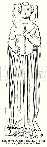 Effigy of Queen Philippa. Illustration from The Comprehensive History of England (Gresham Publishing, 1902).