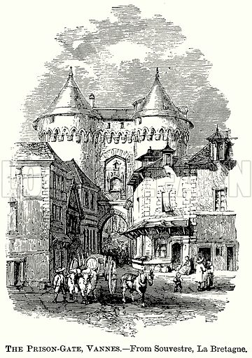 The Prison-Gate, Vannes. Illustration from The Comprehensive History of England (Gresham Publishing, 1902).