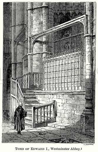 Tomb of Edward I, Westminster Abbey. Illustration from The Comprehensive History of England (Gresham Publishing, 1902).