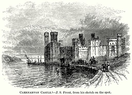 Caernarvon Castle. Illustration from The Comprehensive History of England (Gresham Publishing, 1902).