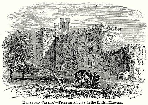 Hertford Castle. Illustration from The Comprehensive History of England (Gresham Publishing, 1902).