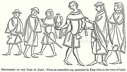 Gentlemen of the Time of John. Illustration from The Comprehensive History of England (Gresham Publishing, 1902).