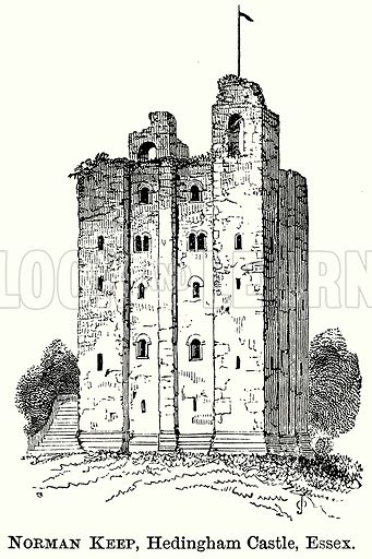 Norman Keep, Headingham Castle, Essex. Illustration from The Comprehensive History of England (Gresham Publishing, 1902).