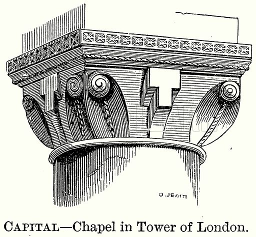 Capital – Chapel in Tower of London. Illustration from The Comprehensive History of England (Gresham Publishing, 1902).